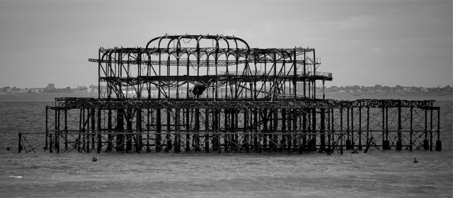 West Pier Pavilion after the Fire, by Peter Kuxhaus