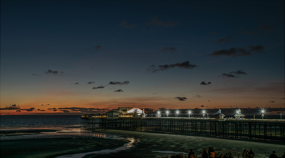 North Pier Sunset, by Rachel Wilson