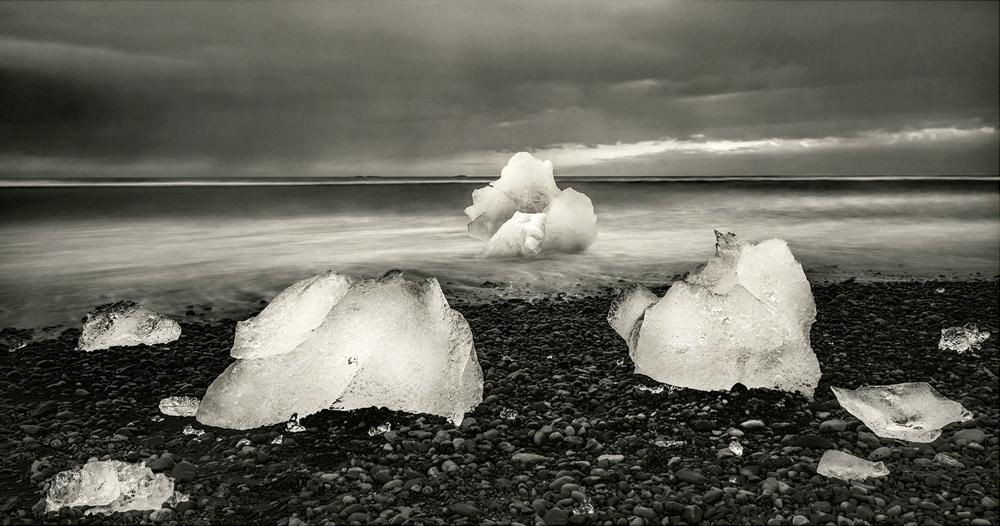 Ice on the Beach, by Dave Bibby