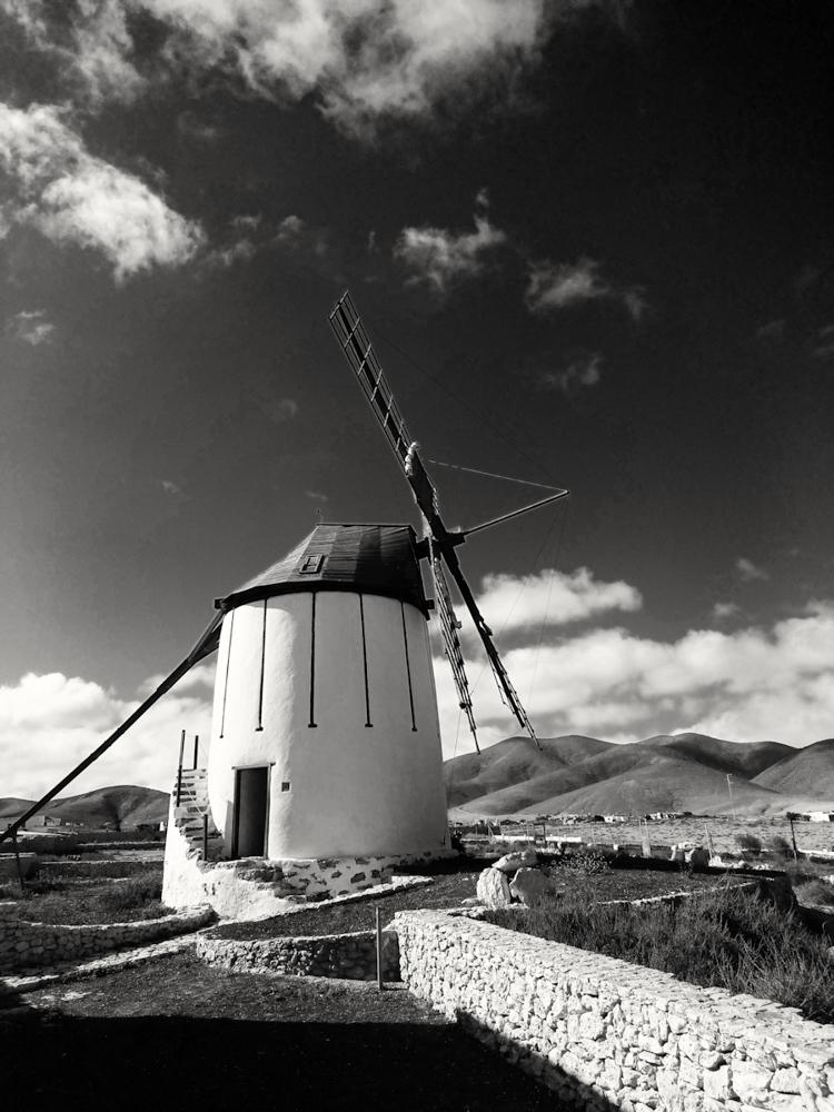 Windmill Fuerteventura, by Steve Lang