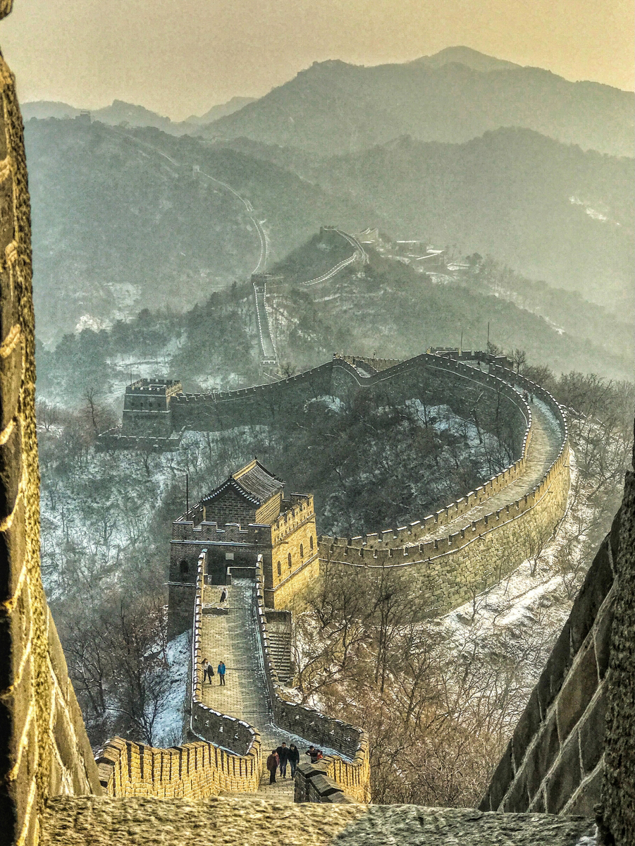 Smoggy Day at The Great Wall of China, by Nicki Greenwood